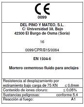 GLOMIX TEC 720 Mortero GROUT para anclaje y relleno
